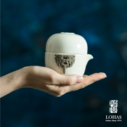 【陸寶LOHAS】青瓷冰裂隨手泡 一碗一杯壺袋 旅行茶組