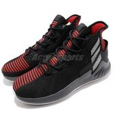 adidas D Rose 9 黑 紅 九代 高筒 Primeknit 編織鞋面 籃球鞋 男鞋 羅斯 飆風玫瑰【PUMP306】 AQ0039
