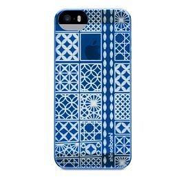 【唐吉商城】POWER SUPPORT iPhone 5/5S 專用 Air Jacket Kiriko 江戶切子保護殼 - 大阪藍(PSCO)