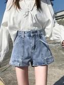 網紅牛仔短褲女潮ins寬鬆闊腿短褲2020新款高腰顯瘦夏季薄款熱褲 童趣屋