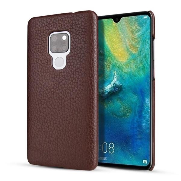 手機配件 華為Mate20 X荔紋頭層牛皮手機后殼超薄商務真皮華為Mate20保護殼手機殼 手機套 皮套