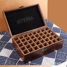 精油收納盒 doterra精油盒子收納盒 木制40格多功能精致多特瑞整理實木盒 韓菲兒