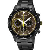 SEIKO 精工 Criteria 極速太陽能計時碼錶-咖啡x鍍黑/41mm V175-0DA0G(SSC343P1)