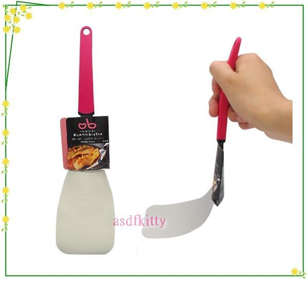 asdfkitty可愛家☆ 日本川嶋彈力鍋鏟-18-8不鏽鋼-輕薄-好煎好炒-可當餅乾鏟 -日本製