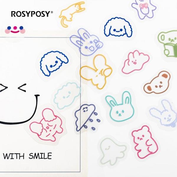 手賬貼紙 萬物可搭韓國可愛PET手帳貼紙裝飾小圖案少女心INS風手賬素材貼畫 小衣里