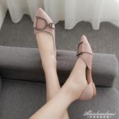 新款平底單鞋女尖頭淺口晚晚鞋百搭網紅仙女配裙子的女鞋 黛尼時尚精品