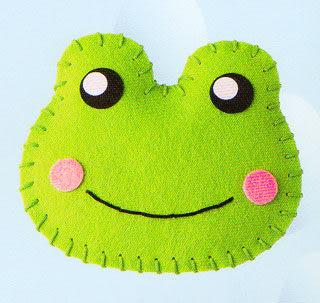 超簡單穿洞香包-青蛙
