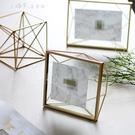 快速出貨 北歐ins金屬玻璃幾何相框創意擺件照片裝飾畢業禮物 【全館免運】
