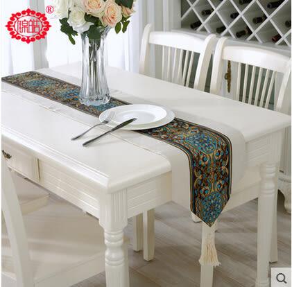 新品簡約現代歐式小清新桌旗餐旗 純色鑲邊亞麻茶几布桌布