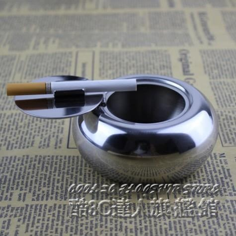可密封個性煙盅創意加厚鼓形煙灰缸帶蓋不銹鋼時尚煙灰缸其