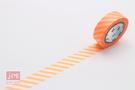 日本MT和紙膠帶 斜條紋-螢光橘 MT01D314 (2016春夏款)