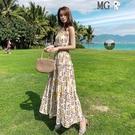MG 洋裝女 海邊 度假 沙灘裙 波西米...