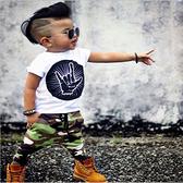 嬰兒短袖套裝 短袖上衣+迷彩長褲二件式童裝 SK8191 好娃娃