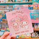 正版授權 三麗鷗卡片 美樂蒂 Melody 三摺卡片 生日卡 萬用卡片 卡片 附信封 A款 COCOS DA030