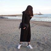 長款毛衣女新款韓版秋冬新款寬松過膝高領慵懶打底針織連衣裙 koko時裝店