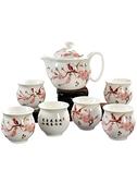 茶具套裝陶瓷防燙雙層杯功夫茶具茶杯中式青花瓷茶壺家用簡約