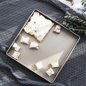 正方形不粘烤盤 曲奇牛軋糖 雪花酥模具 金色烤盤 家用烘焙工具      蜜拉貝爾