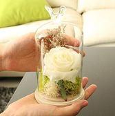 永生花擺件玻璃罩創意家居客廳工藝擺設裝飾品PL134【男人與流行】