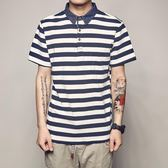 日系小清新條紋Polo衫