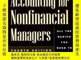 二手書博民逛書店Finance罕見And Accounting For Nonfinancial Managers-非財務經理財務