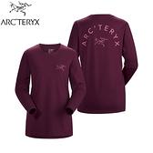 【ARC TERYX 始祖鳥 女 LOGO 長袖T恤《狂想紫紅》】27445/長袖上衣/透氣長袖/內層上衣