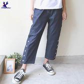 【下殺↘5折】American Bluedeer-側邊壓釦寬褲 春夏新款