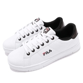 Fila 復古網球鞋 C302T 基本款 小白鞋 白 黑 經典款 男鞋 運動鞋【PUMP306】 1C302T100