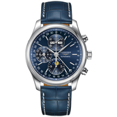 LONGINES 浪琴 巨擘系列全日曆月相計時碼錶-42mm L27734920
