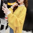 慵懶風毛衣女假兩件網紅春秋新款韓版寬鬆外穿長袖針織衫上衣 雙十二全館免運