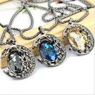 ►月亮水晶項鍊 滿鑽寶石毛衣鏈 韓版長款...