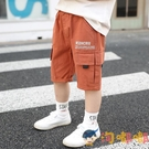 男童短褲外穿潮薄款寬松男孩五分褲中褲兒童純棉工裝褲【淘嘟嘟】