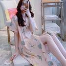 和服睡衣 日式和服睡衣女夏天短袖睡袍韓版清新學生薄款夏季睡裙子浴袍夏款 芊墨左岸