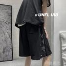 2021夏季新款短褲男韓版潮流寬鬆五分褲港風休閒百搭帥氣運動中褲 一米陽光