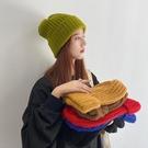 超大頭圍毛線帽子女秋冬韓版百搭大版顯臉小粗線針織冷帽堆堆帽男 618狂歡