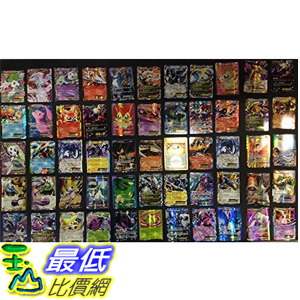 [美國直購] 神奇寶貝 精靈寶可夢周邊 Pokemon TCG : 100 CARD LOT RARE, COMMON, UNC, HOLO & GUARANTEED EX