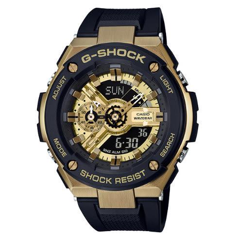 G-SHOCK CASIO卡西歐 分層防護構造 計時碼錶 GST-400G-1A9 雙顯錶 電子錶 黑x金 男錶 GST-400G-1A9DR