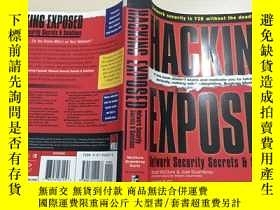 二手書博民逛書店英文原版罕見Hacking Exposed 黑客大曝光Y189836 Stuart McClure   Joe