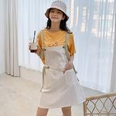 連身裙 繫帶口袋質感平口洋裝RU5059-創翊韓都