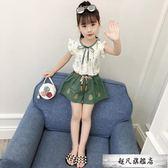 女童套裝夏裝2019新款夏季韓版時尚洋氣中大兒童裝衣服時髦兩件套-超凡旗艦店