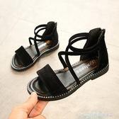 公主鞋女童涼鞋新款韓版夏季時尚羅馬小女孩鞋子學生兒童公主鞋 童趣潮品