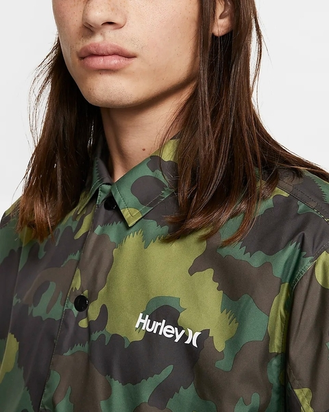 Hurley M SIEGE COACHES JACKET GREEN NOISE 夾克(迷彩)