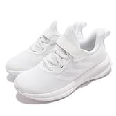 adidas 慢跑鞋 FortaRun EL K 白 全白 女鞋 大童 中童鞋 魔鬼氈 愛迪達【ACS】 GY7602