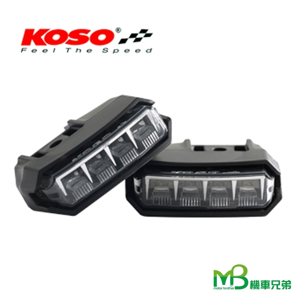 機車兄弟【 KOSO 前後LED方向燈組(附阻絕器) 】(BWS'R)