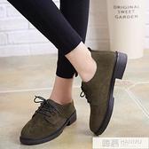 2020新款磨砂皮女鞋英倫復古學院風小皮鞋女學生韓版百搭森系女鞋  萬聖節狂歡