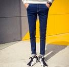 找到自己品牌 新款 微跨版型 簡單 修身小腳褲 牛仔褲 男 潮