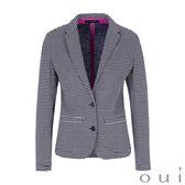oui 藍白條紋休閒西裝外套