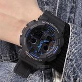 G-SHOCK GA-100-1A2 時尚潮錶 GA-100-1A2DR 個性 現貨! 藍色