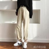 米白色直筒牛仔褲女加絨秋冬新款高腰闊腿褲寬鬆杏色休 花樣年華