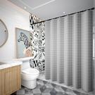 衛生間浴簾防水布套裝浴室門簾洗澡隔斷簾