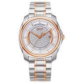 Ogival 瑞士愛其華 璀璨鑽石自動機械腕錶/45mm